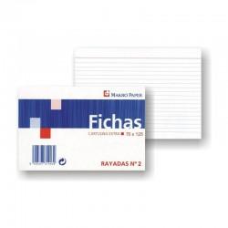 FICHAS RAYADAS MAKRO PAPER 75X125 Nº2