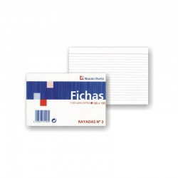 FICHAS RAYADAS MAKRO PAPER 100X150 Nº3