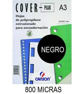 PORTADA A3 COV-PLAK 800 MICRAS NEGRO