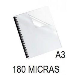 PORTADA A3 DFH 180 MICRAS CRISTAL P/100