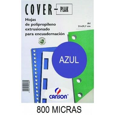 PORTADA A4 COV-PLAK 800 MICRAS AZUL P/50