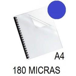 PORTADA A4 DFH 180 MICRAS AZUL P/100