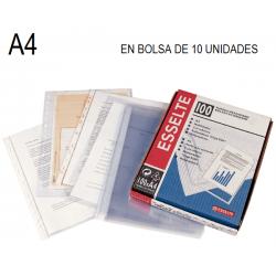 FUNDA MULTITALADRO ESSELTE A4 10 BOLSAS/10U