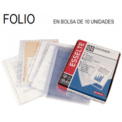 FUNDA MULTITALADRO ESSELTE FOLIO 80 Micras 10 BOLSAS de 10U