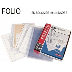 FUNDA MULTITALADRO ESSELTE FOLIO 80 Micras 10 BOLSAS de 10U