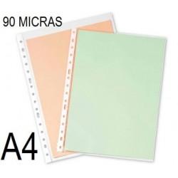 FUNDA MULTITALADRO PARDO A4 90 micras C/100