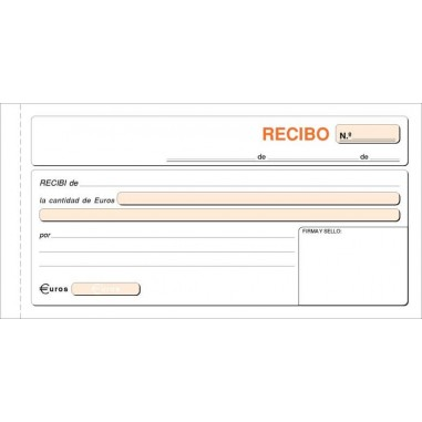 TALONARIO RECIBO 21X10,5 CM DUPLICADO T-60/48D P/10