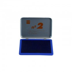 Tampón Plus Office Nº2 Azul 8x12cm