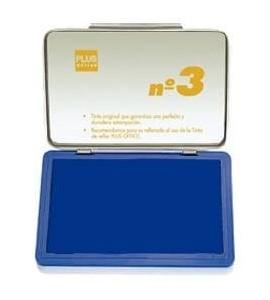 Tampón Plus Office Nº3 Azul 5x10cm