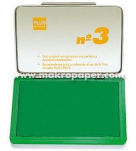 Tampón Plus Office Nº3 Verde 5x10cm