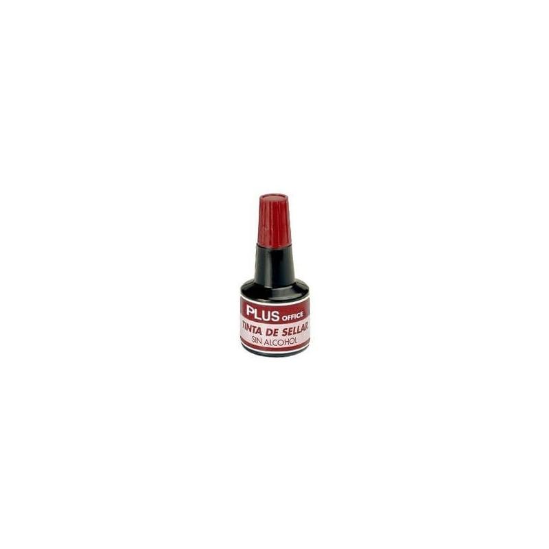 Tinta de Tampón Rojo Plus Office 30cc.