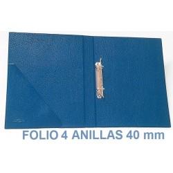 CARPETA PLÁSTICO SARO FOLIO 4 ANILLAS