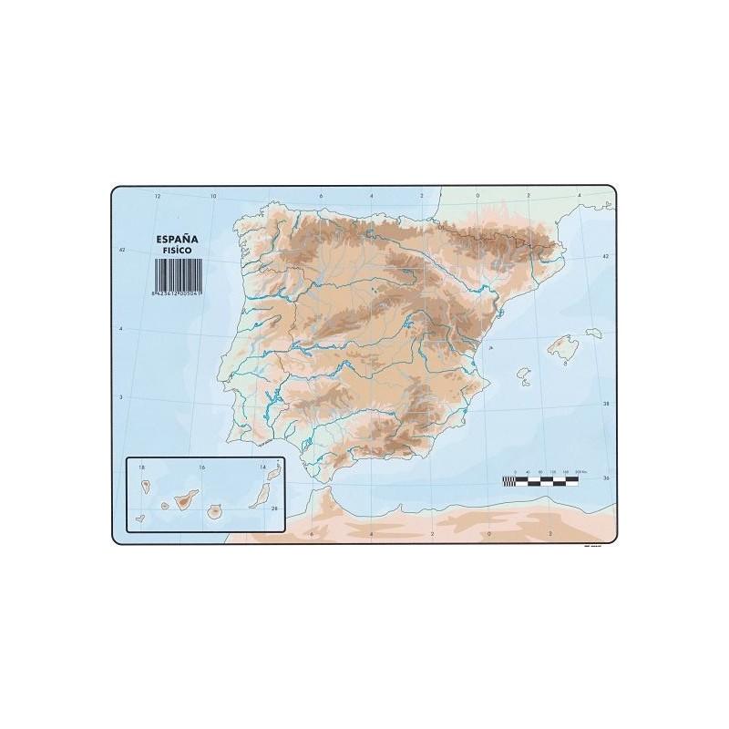 Mapa De España Físico.Mapas Espana Fisico