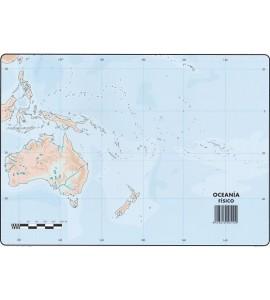 Mapas Oceanía Físico