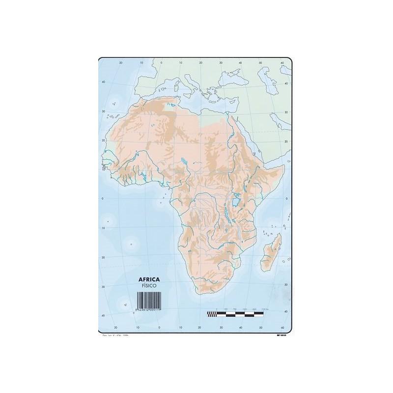 Mapa Africa Fisico Mudo.Mapas Africa Fisico