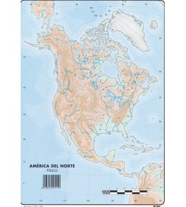 Mapas América del Norte Físico