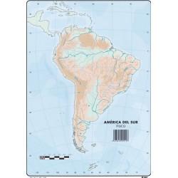 Mapas America del Sur Fisico