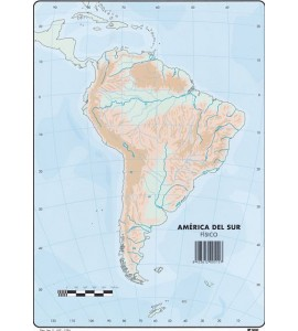 Mapas América del Sur Físico