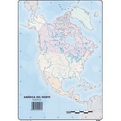 Mapas América del Norte Político