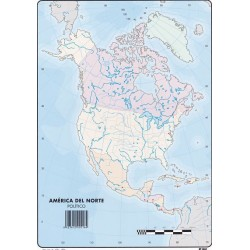 Mapas America del Norte Politico