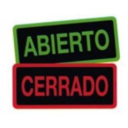 CARTEL HORARIO ABIERTO-CERRADO