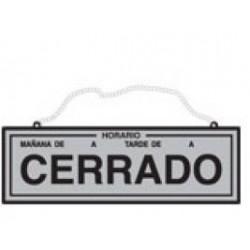 CARTEL HORARIO ABIERTO-CERRADO LATON