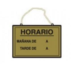 CARTEL HORARIO LATÓN