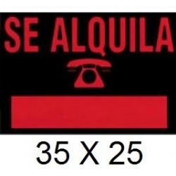 CARTEL SE ALQUILA 35 X 25