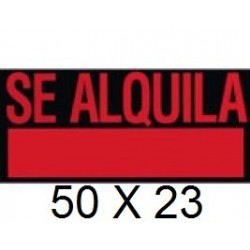 CARTEL SE ALQUILA 50 X 23