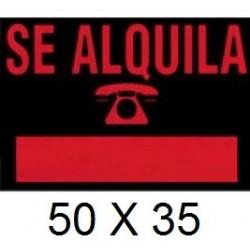CARTEL SE ALQUILA 50 X 35