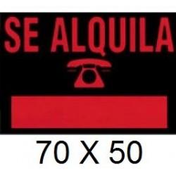 CARTEL SE ALQUILA 70 x 50