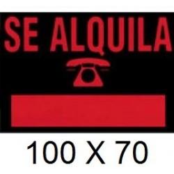 CARTEL SE ALQUILA 100 X 70