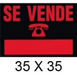 CARTEL SE VENDE 35 X 25