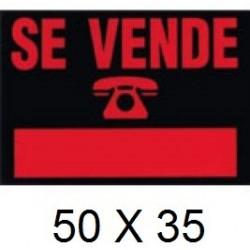 CARTEL SE VENDE 50 X 35