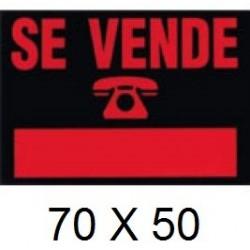 CARTEL SE VENDE 70 X 50