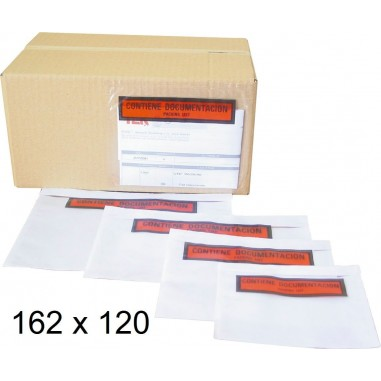 SOBRE PORTADOCUMENTOS  162X120MM C/100
