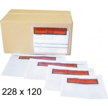 SOBRE PORTADOCUMENTOS 228X120MM C/100