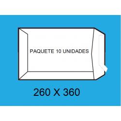BOLSA 260X360 A-108100 BLANCO P/10