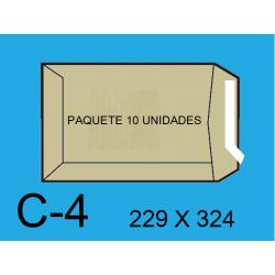 BOLSA ENVIO 229X324 C4 KRAFT 10UN