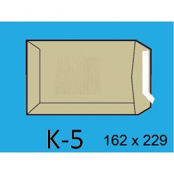 BOLSA 162X229 K-5 KRAFT C/250