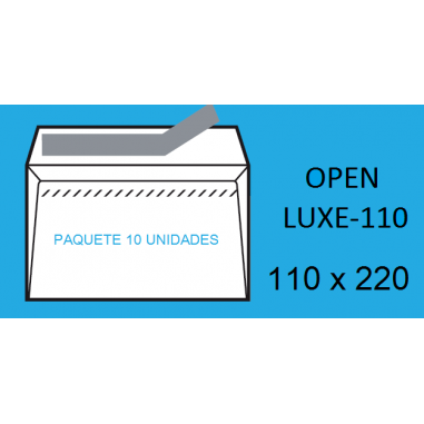 SOBRES 110X220 OPEN 110 P/10