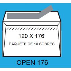 SOBRES 120X176 OPEN 176 P/10