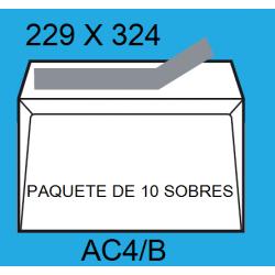 SOBRES 229X324 AC4/B BLANCO P/10