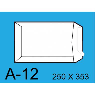 BOLSA 250X353 A-12 BLANCO C/250