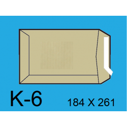 BOLSA 184X261 K-6 KRAFT C/250