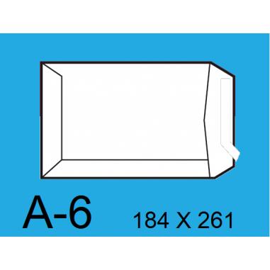 BOLSA 184X261 A-6 BLANCO C/250