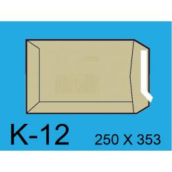 BOLSA 250X353 K-12 KRAFT C/250
