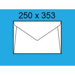 SOBRES PLANO SAM 250X353 BLANCO C/250