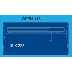 SOBRES 115X225 OPEN 115 C/500