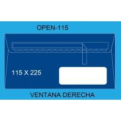 SOBRES 115X225 OPEN 115 VD C/500